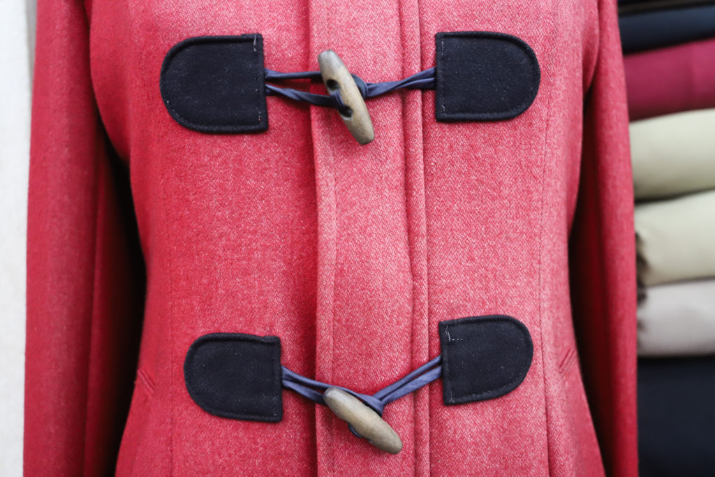 Pink Peacoat Buttons